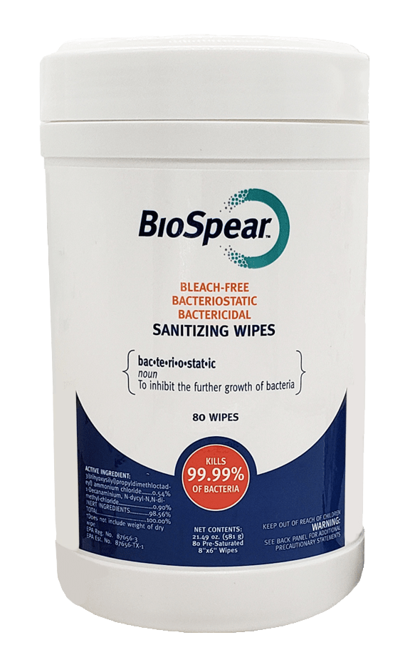 bacteriostatic sanitizing wipes canister